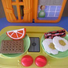 Wakey Wakey Eggs and Bakey Pretend Play Food Set via Etsy