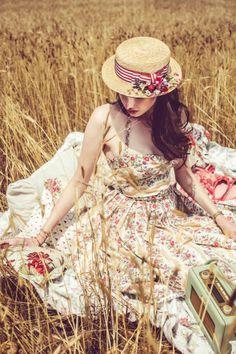 BOHÈME DRESS<br/>flower stripes