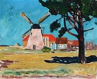 Olaf Rude The Mill in Svaneke, Bornholm, 1931