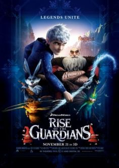 #Rise of the Guardians (2012) nice muvy very cute!!! very nice #message. Never loose hope, always wonder, believe in dreams, acknowledge fear but don't be afraid and most of all always have fun :)