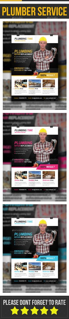 Plumber Flyer Template - Corporate Flyers Download here: https://graphicriver.net/item/plumber-flyer-template/19973940?https://graphicriver.net/item/electro-flyerposter-vol4/19973941?ref=classicdesignp
