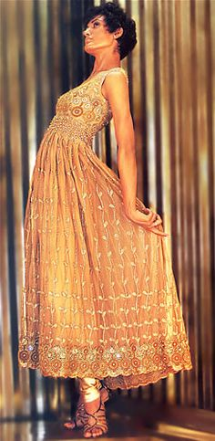 Gold anarkali - sangeet outfit