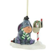 Disney Christmas Magic Grolier Tree Ornament Figurine Eeyore of Winnie the Pooh Winne The Pooh, Winnie The Pooh Friends, Mickey Mouse And Friends, Christmas Figurines, Vintage Christmas Ornaments, Christmas Images, Disney Christmas Decorations, Christmas Themes, Holiday Decor