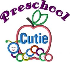 Preschool Cutie Applique Design