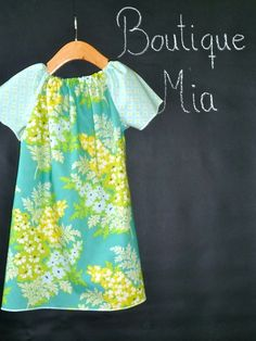 DIY KIT - Peasant Mini Dress - Heather Bailey - Nicey - Pick the size Newborn to 12 Years by Boutique Mia