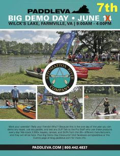 Big Demo Day 2014!! Come visit the entire paddle-sports industry in one place!