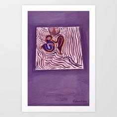 om Art Print by Loosso - $19.76 infinity, absolute, om, nirvana, eternal, freedom, oneness,Buddha, Jesus,Lord,Love