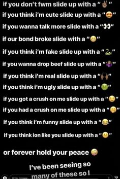 Snapchat Story Questions, Snapchat Question Game, Funny Snapchat Stories, Instagram Story Questions, Snapchat Search, Snapchat Posts, Cute Slides, Emoji Games, Heartbroken Quotes
