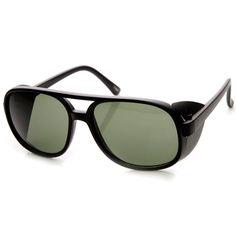Studio Cover Side Lens Square Flat Top Aviator sunglasses