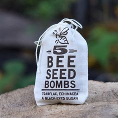Help save the disappearing bee population by planting these easy-to-grow wildflower seed bombs. Includesvarieties known to attract both native and honeybees to the garden, including Baby Snapdragon, Echinacea and Black Eyed Susan. Easy To Grow Flowers, Growing Flowers, Wild Flowers, American Meadows, Raising Bees, Seed Bombs, Boho Stil, Wildflower Seeds, Black Eyed Susan