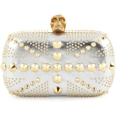 Alexander McQueen Union Jack Skull Metallic Clutch Bag ($1,795) ❤ liked on Polyvore featuring bags, handbags, clutches, alexander mcqueen, bolsas, bolsos, union jack handbag, clasp purse, metallic purse y metallic clutches