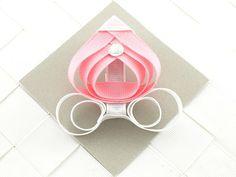 Pink Princess Carriage Sculpted / Sculpture Ribbon Hair Bow Clip (x1) via Etsy