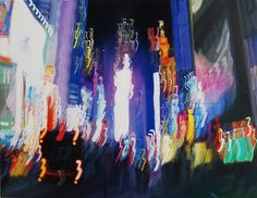 Blurry Nightlife Oil Painting by Alexander Pacula