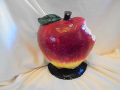 Vintage APPLE DOOR STOP  Cast Iron by AngieFoundit4U on Etsy