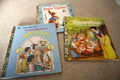 Set of three Little Golden Books.  The Tale by CreekLifeTreasures, $12.99