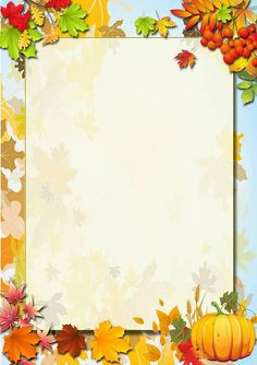 Origami Paper Art, Paper Crafts, Fall 1st Birthdays, Boarder Designs, Fall Clip Art, Boarders And Frames, School Frame, Borders For Paper, Autumn Activities