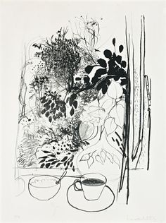 Brett Whiteley (1939 – 1992) View of the Garden, 1977 lithograph 67.0 x 46.0 cm