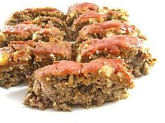 Cut the calories without cutting the taste. This meatloaf really delivers. It's low in calories, moist and has a rich sweet ketchup topping