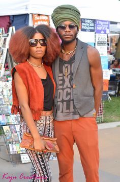 Queen and her King allowed to capture their graciousness during an African Arts Festival in Brooklyn. Beautiful black ppl everywhere!   Setting: Brooklyn  Photographer: Hassan Augustin (idefinehassan)