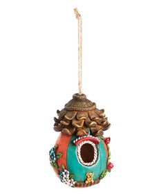 Look what I found on #zulily! Red Whimsy Woods Fairy House Ornament #zulilyfinds