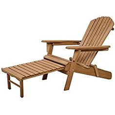 Tangkula Outdoor Foldable Wood Adirondack Chair Patio Deck Garden w/ Pull-out Ottoman. Overall Dimensions With Ottoman: Overall Dimensions Without Seat Arm Rest Ground To The Seat). Iron Patio Furniture, Rustic Furniture, Garden Furniture, Outdoor Furniture, Pool Lounge Chairs, Patio Chairs, Outdoor Chairs, Ikea Chairs, Office Chairs