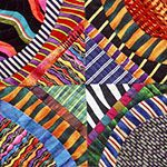 by Louise Harris of Fiber Optix, an art quilt group - awesome mix of stripes