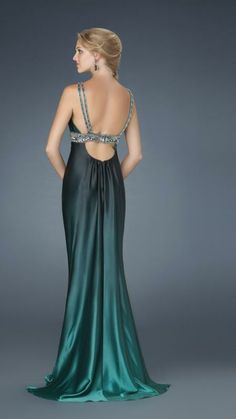La Femme 14456 | 1920's Great Gatsby Art Deco ombre bridesmaids dress