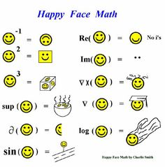 Happy Face Math #humor #math