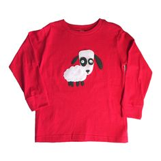 mi cielo x Matthew Langille - Sheep – Red Toddler Longsleeve T-Shirt – Boys or Girls by micielomicielo on Etsy