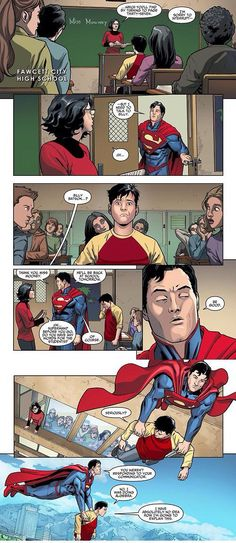 Superman and Billy Batson: I suppose there are issues when you are a child/adult superhero! :)