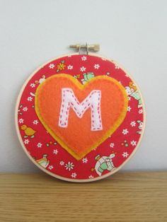 felt embroidery   Felt embroidery hoop monogram   Sewing and crafts