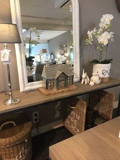 Modern Cottage Style, Rivera Maison, Decoration, Entryway Tables, Taupe, Sweet Home, New Homes, Home And Garden, Living Room