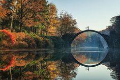 A ponte do diabo, Rakotzbrück, Alemanha. Fotografia diferente, exótica, de qualidade, para quem gosta e respira fotografia!