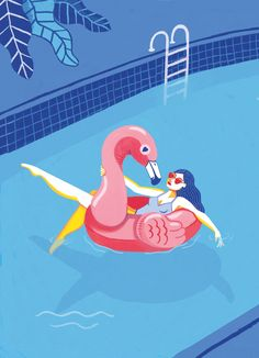 Summer Love Summer Wall Art Giclée Print Home Decor Don Du Sang, Preschool Garden, Christmas Ad, Arte Horror, Summer Design, Gouache Painting, Thing 1, Graphic Design Illustration, Summer Of Love