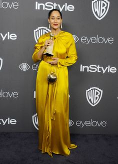 Tracee Ellis Ross - If The Golden Globes Red Carpet Didn't Impress You, The Killer After Party Looks Will Golden Globes After Party, Tracee Ellis Ross, Red Carpet Gowns, Party Looks, Party Fashion, High Fashion, Hollywood Glamour, Red Carpet Fashion, Yellow Dress