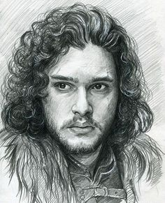 """By tatyana makarcheva . Thanks ❤️ #jonsnow#kitharrington#winteriscoming#kitharringtondrawing"""