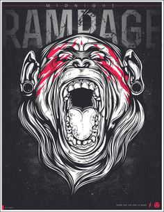 Midnight Rampage by Viscera Vicarious, via Behance
