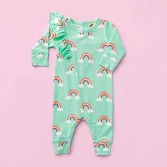 Field Hockey-2 Infant Baby Boys Girls 100/% Organic Cotton Outfits Sunsuit Clothes 0-24 Months