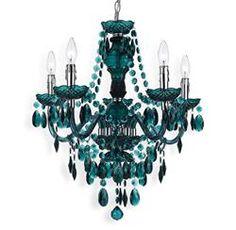 Vintage Crystal Chandelier, Blue Chandelier, Chandelier Lighting, Convert Garage To Bedroom, Chandelier Makeover, Beaded Curtains, Interior Design Services, Window Coverings, Blue Green