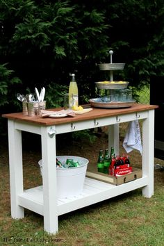 Use Your Kreg Jig® To Create A Stylish Outdoor Serving Buffet. Free Plans By
