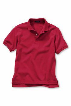 School Uniform Short Sleeve Solid Performance Interlock Polo Shirt from Lands' End