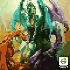 Pixel Dragon, Painting, Art, Art Background, Painting Art, Paintings, Kunst, Drawings, Art Education