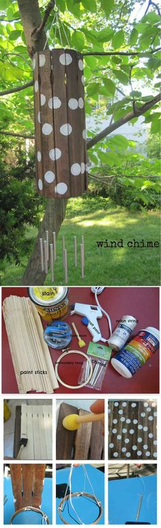 Paint Stick Wind Chimes | 32 DIY Wind Chimes