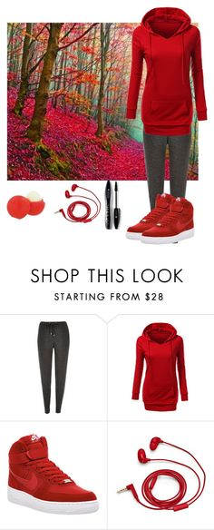 """""""Walk&relax"""" by lilithsilvermoon ❤ liked on Polyvore featuring River Island, NIKE, Eos, FOSSIL and Lancôme"""
