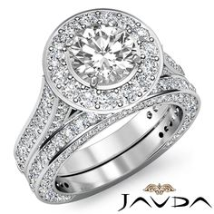 Huge Halo Round Diamond Engagement Ring Bridal Set EGL E VS1 Platinum 4 45 Ct | eBay