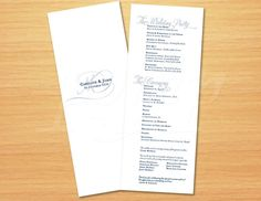 Printable Wedding Program  Calligraphy Simple by pompdesigns, $30.00