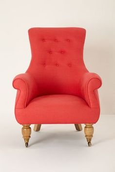 perfect proportions for a nursery chair. Add rockers. Astrid Chair - anthropologie