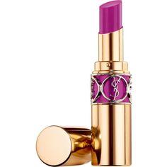 Yves Saint Laurent Beauty Women's Rouge Volupté Shine ($37) ❤ liked on Polyvore featuring beauty products, makeup, lip makeup, lipstick, lips, beauty, purple, yves saint laurent, lip gloss makeup and moisturizing lipstick