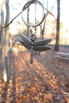 Dragonfly Keychain by jimclift on Etsy