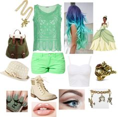 """""""Punk Rock Tiana Outfit"""" by casey-carpenter on Polyvore"""